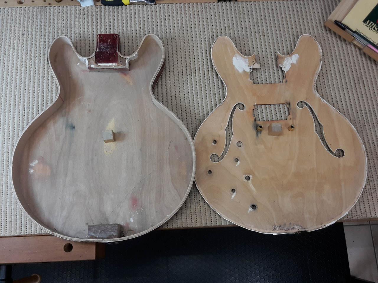 restauro ibanez legno e corde liutaio como